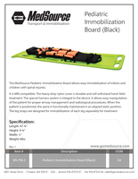 MS-PIB-3 Pediatric Immobilization Board_Rev. 1