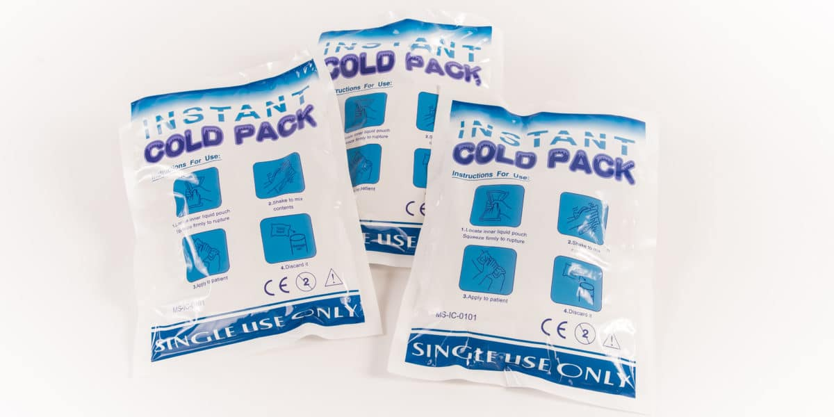 three cold packs