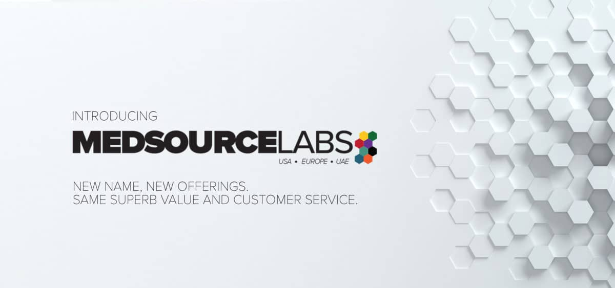 medsource logo and values on white checked background