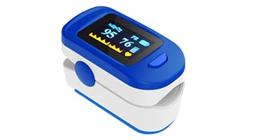 Fingertip Pulse Oximeter with SP02, Pulse Rate and Waveform w/ Bar Graph Display